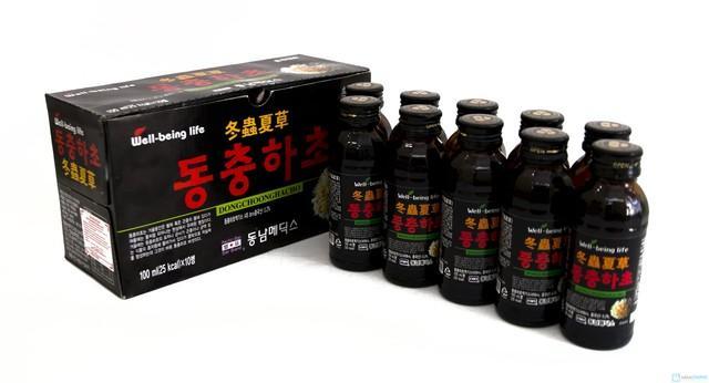 Nước Uống Đông Trùng Hạ Thảo Dạng Chai (Hộp màu đen)